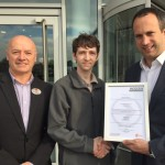 Hilton Garden Inn Hotel Glasgow Facilities Services Modern Apprentice awarded certificate